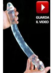 REAL DOUBLE Fallo Doppio Trasparente  Morbido e Flessibile 44 X 4 cm.