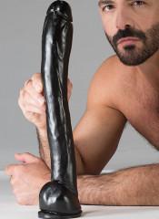 DARK CRYSTAL Bas Dildo BLACK 40 X 5 cm.