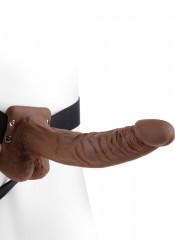 Fallo Indossabile Strap-On Cavo con Testicoli per Uomo 24 x 4,6 cm.
