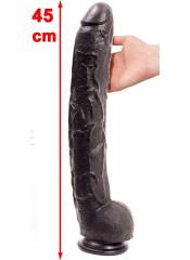 Fallo Dildo Gigante Rambone Nero Doc Johnson 45 X 6 cm.
