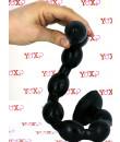 Snake Beads - Gut Snake Dildo Flessibile con 8 Bulbi 48 x 3,5 cm. Nero