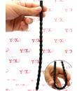 Sonda dilatatore uretra flessibile in silicone nero con 15 rilievi stimolanti 24 x 0,8 cm.