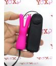 Mini coniglietto vibrante in silicone fucsia 9 x 2,3 cm.