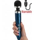 Massaggiatore Doxy Die Cast 3R blu in alluminio e silicone 28 x 4,5 cm.
