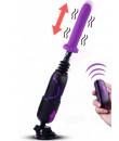 Sex machine portatile con ventosa staccabile e dildo viola 20 x 4 cm.