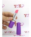 Stimolatore clitoride a forma di rossetto lilla 9 x 3 cm.