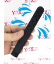 Soffione per lavaggio anale nero con fori a 360 gradi con attacco universale 15 x 1,9 cm.