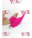 Mini Vibratore da Dito in Puro Silicone Rosa 10 cm.