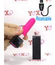 Mini Vibratore Bullet a Forma di Rossetto Ricaricabile con USB 10 x 3 cm.