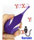 Stimolatore vibrante in silicone viola 12,6 x 4,9 cm.