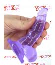 Fallo Realistico in Jelly Morbido e Flessibile Viola 11 x 2,5 cm.