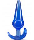 Cuneo anale da passeggio con bulbo blu 12,2 x 3,6 cm.