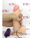 Leo - Vibratore realistico morbido e flessibile color carne 15 x 3,8 cm.