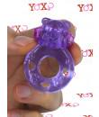 POWER RING BEAR - Anello Fallico Vibrante Elastico a Forma di Orsetto Viola