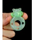 FLASH TEDDY - Anello Fallico Vibrante Elastico a Forma di Orsetto Verde Fluo