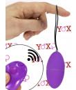 Ovetto vibrante lilla telecomandato senza fili 7,5 x 3,5 cm.