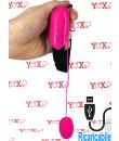 Ovetto Vibrante con Comando su Fascia per Coscia 3,9 x 2,7 cm. Rosa