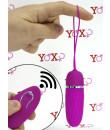 Ovetto vibrante in silicone fucsia telecomandato senza fili 9,2 x 2,8 cm.