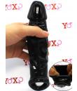 Guaina per pene nera con cock sling 21,5 x 4,2 cm.