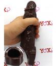 Guaina per pene e testicoli marrone 21,5 x 4,4 cm.