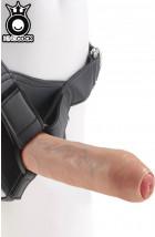 KING COCK Fallo Ultra Realistico che si Scappella 21 X 4,5 cm. Indossabile con Imbracatura