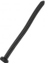 Savana - Gut Snake Dildo Flessibile con Rilievi Stimolanti 48,5 x 3,2 cm. Nero