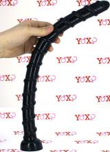 Bongare - Gut Snake Dildo Flessibile 45,5 x 3,2 cm. Nero