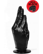 ALL BLACK Mano con Ventosa per Fisting 21 X 6 cm.