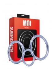 MOI - Mr. Threesome - Set di 3 Anelli Fallici in Acciaio Inossidabile