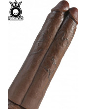 KING COCK - Fallo Doppio Ultra Realistico Africano 31 X 8,8 cm. Alta Qualita MADE in USA