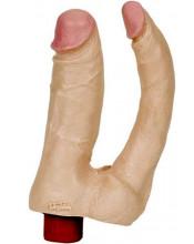 Vibratore Realistico Doppio Per Doppia Penetrazione - Doc Johnson 17 X 4 cm. - 17 X 2,5 cm.
