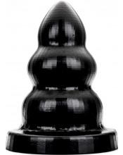 Cuneo anale gigante All Black progressivo multifaccia 26 x 15 cm.