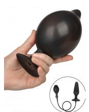 Cuneo anale gonfiabile in silicone nero con pompa removibile 16 x 4,5 cm.