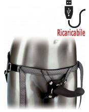 Strap On vibrante per donna in silicone con cintura regolabile 16,5 x 3,75 cm.