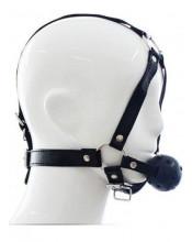 Imbracatura Testa in Ecopelle con Gagball Nera