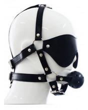 Imbracatura Testa in Ecopelle con Gagball e Maschera