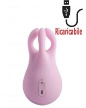 Polipetto Rosa Stimolatore Clitoride Ricaricabile USB 9 x 5 cm.