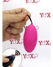 Ovetto vibrante in silicone rosa telecomandato senza fili 7,3 x 3,6 cm.