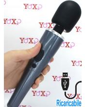 Potente massaggiatore impermeabile in silicone 30,6 cm x 5,5 cm.