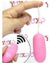 Ovetto vibrante rosa telecomandato senza fili 7 x 3 cm.