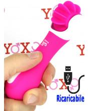 Omaggio lingue lecca clitoride in silicone magenta ricaricabile USB