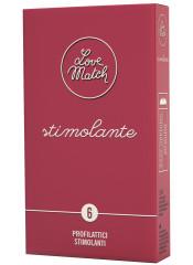 Profilattici Love Match con Rilievi Stimolanti - 6 Pezzi