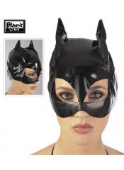 "Maschera ""Catwoman"" In Vernice Nera"