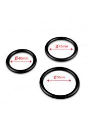 Set di 3 Anelli Fallici in Puro Silicone 3,2 - 4,2 - 5 cm.