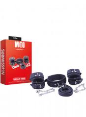 MOI - The Main Course - Kit composto da Costrittori Polsi Costrittori Caviglie e Collare con Guinzaglio