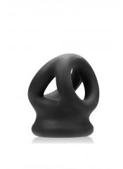 OXBALLS  - CockSling Tri-Squeeze in Puro Silicone Elastico - Black Ice