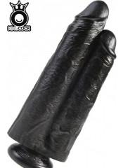 KING COCK - Fallo Doppio Ultra Realistico Nero 26 X 7,2 cm. Alta Qualita MADE in USA