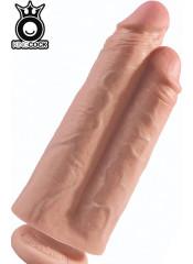 KING COCK - Fallo Doppio Ultra Realistico Naturale 26 X 7,2 cm. Alta Qualita MADE in USA