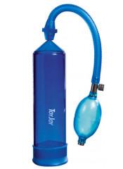 Pompa Sviluppatore Pene 21 x 5,5 cm, BLU