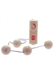 4 Sfere Anali o Vaginali con Vibrazione - Diam. 3,5 Cm.